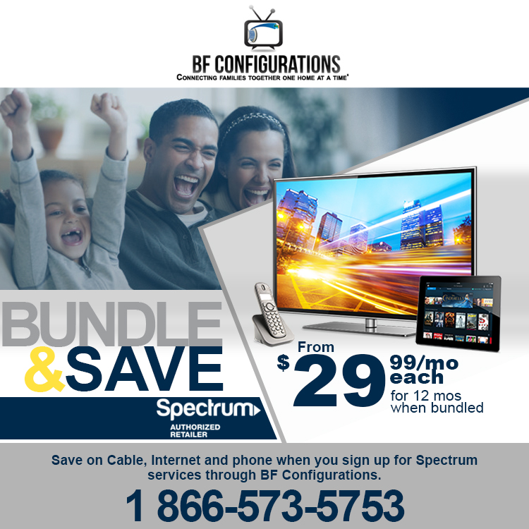 Spectrum Internet, Cable and Phone savings with BF Configurations in Dallas, TX